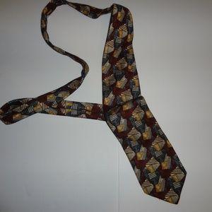 Jos. A Bank Premier Collection Burgundy pattern
